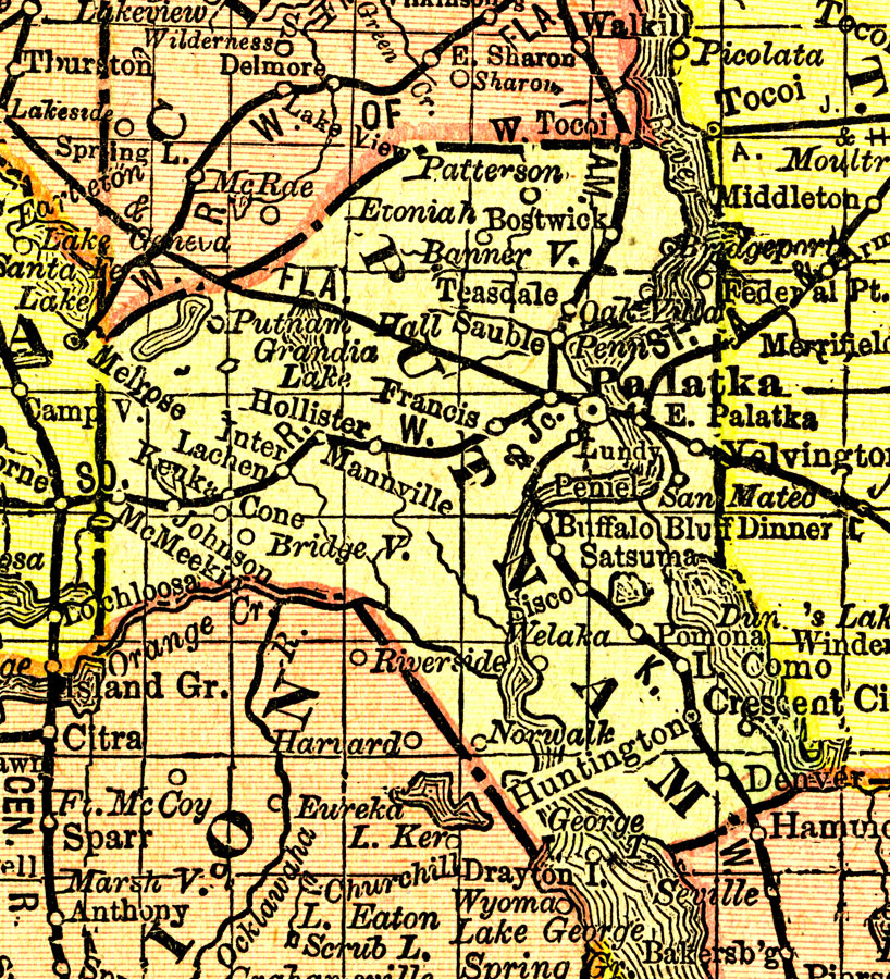 Putnam County Towns Map