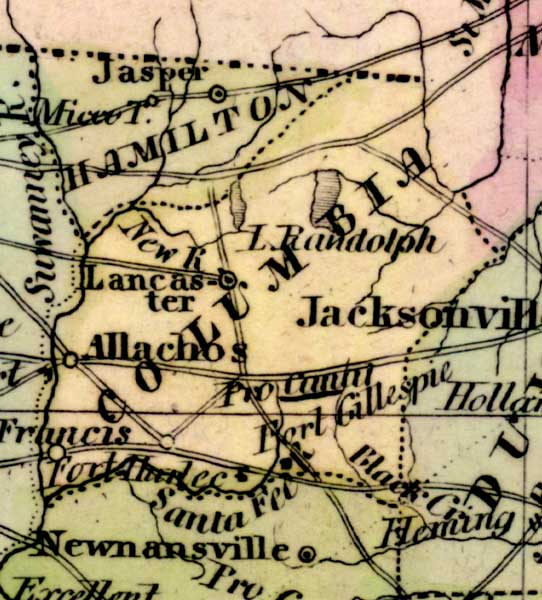 Detail - Map of the State of Florida