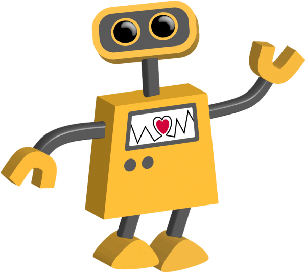 Robot 15 With Heart Tim