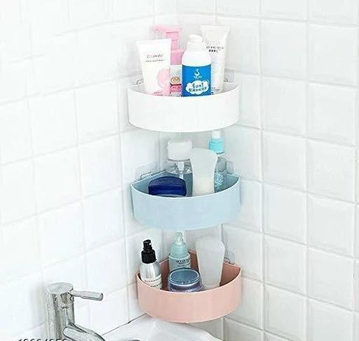 buy bath sets plastic bathroom corner shelf kitchen storage organizer shelf rack triangle corner caddy for bathroom and kitchen set of 3pcs for