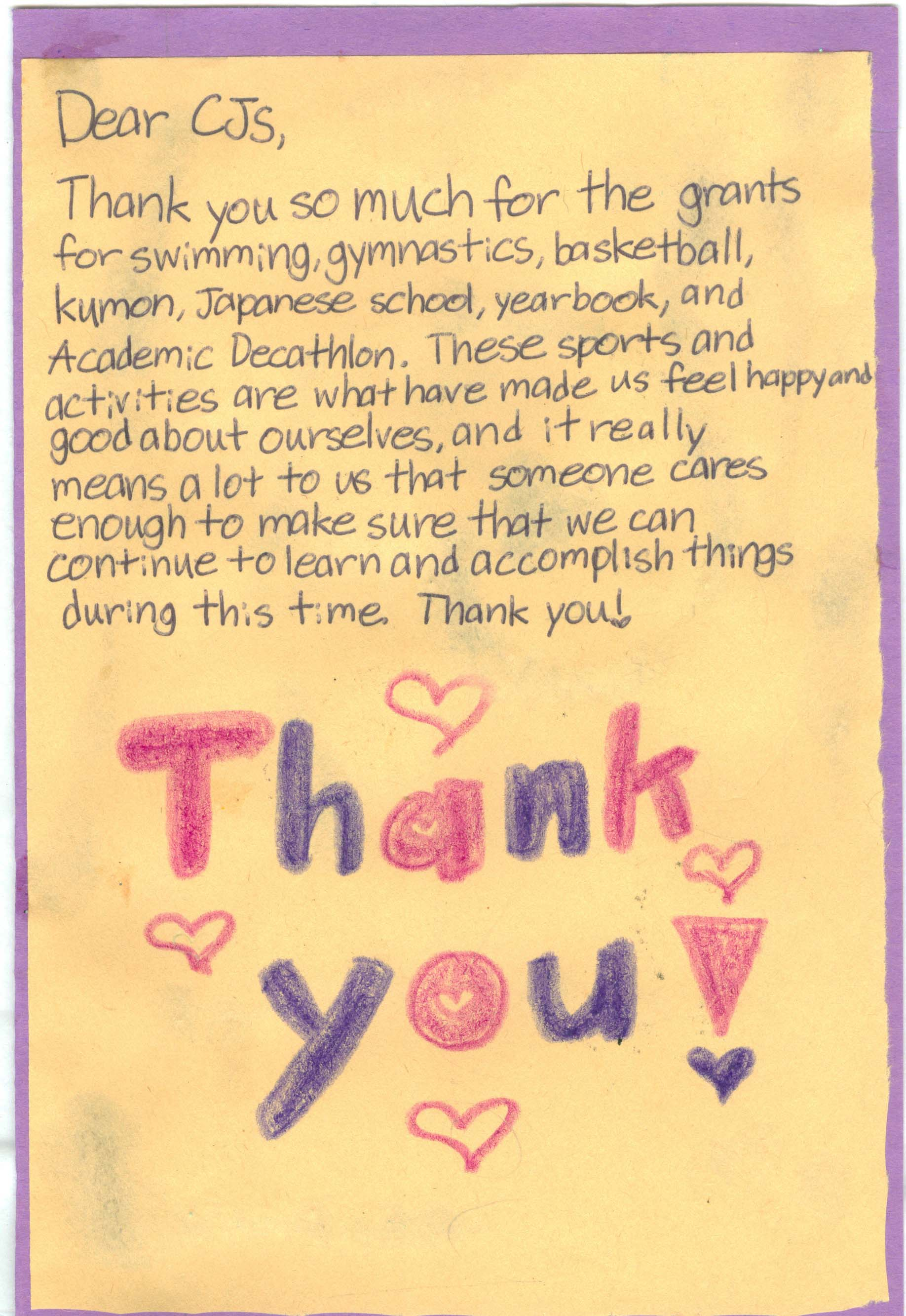 Child Thank You Letter 2.