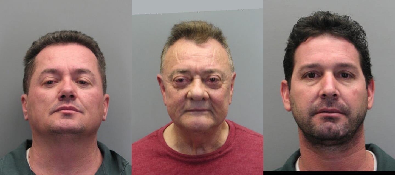 (From left) Osvaldo Bello Villanueva, Enrique F. Franco and Abrahan Noa. (Photo: Fairfax County Police)
