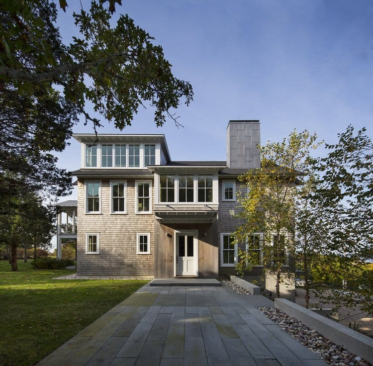 This Cape Cod house was also designed by Moore Architects, PC, and includes several smart technology features. (Photo: Courtesy of Anice Hoachlander Photography)