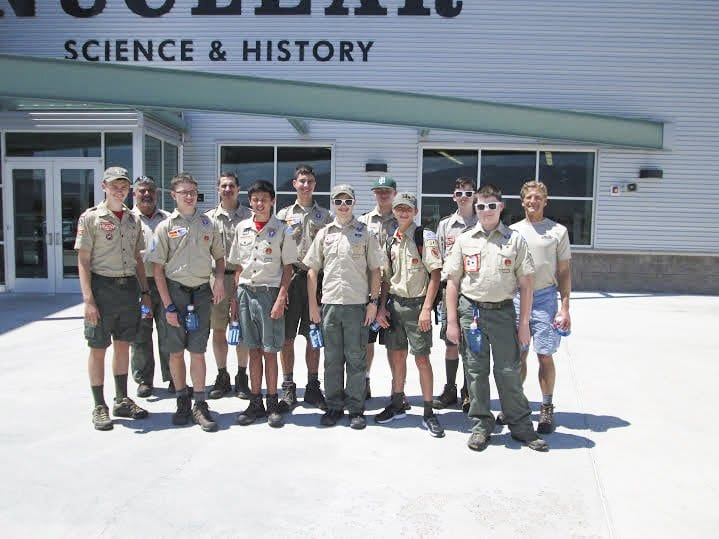 Boy Scouts (l to r) Timothy Gilmour, Walter Zampella, Christian Ross, Michael Ross, Matthew Zampella, Daniel Ross, Marcus Roussey, Joshua Mitchell, Christian Autor, Peter Parker, Thomas Unger and Andrew Mitchell. (Courtesy Photo)