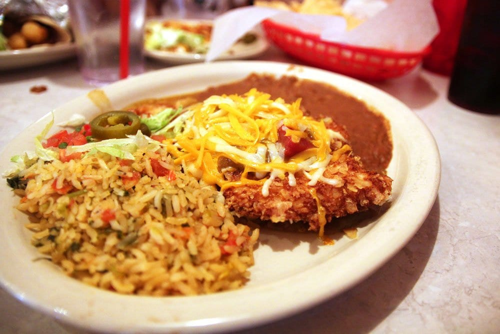 The Elvis Green Chile Fried Chicken. Good luck. (Photo: News-Press)