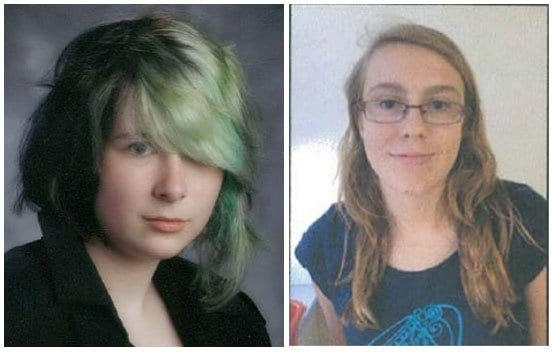 Police seek help in locating Olivia Owen (left) and Zelda Hutcheon (right). both missing from their homes early Friday morning.