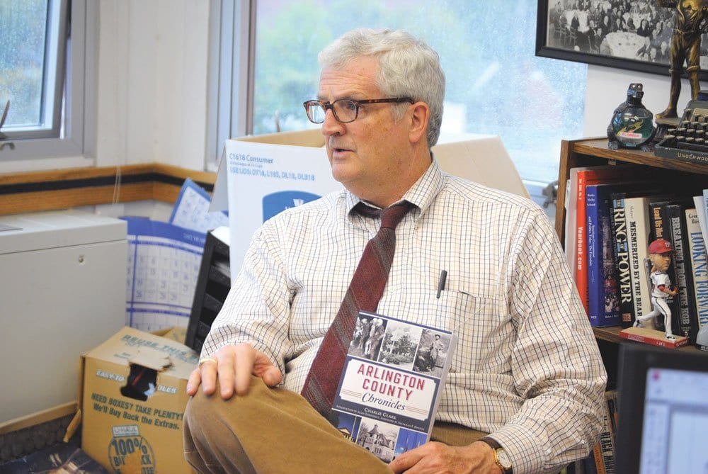 """NEWS-PRESS COLUMNIST Charlie Clark has published 106 of his first 150 """"Our Man in Arlington"""" columns in a single book, out last month. (Photo: News-Press)"""