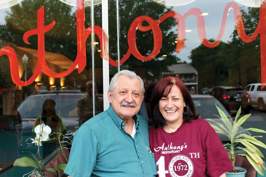 """FOR 41 YEARS, Anthony and Faye Yiannarakis of Anthony's Restaurant fed families from their location in downtown Falls Church. Anthony tells the News-Press that plans to open a relocated Anthony's Restaurant in Falls Church are """"looking good."""" (Photo: Evelyne Horovitz)"""