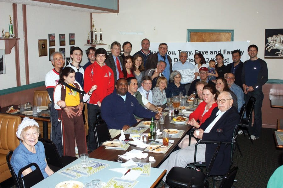 AN ANTHONY'S FAREWELL party held by friends last Friday at the iconic F.C. restaurant.