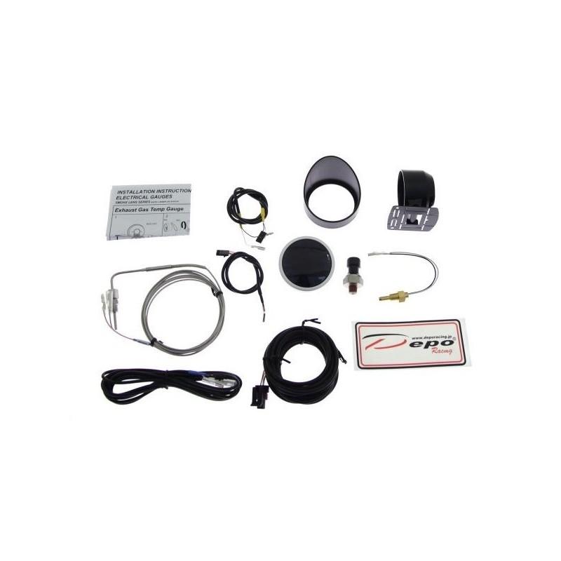 depo racing digital 60mm exhaust gas temperature egt gauge 4in1 wa60574b