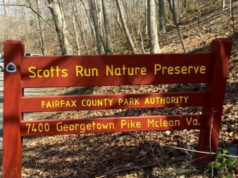 Scotts Run Nature Preserve sign