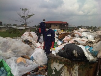 Collection of plastic waste