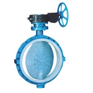 Anti-corrosion fully lined fluorine butterfly valve