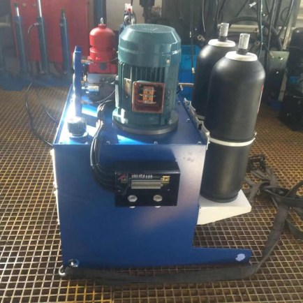 Hydraulic control butterfly valve hydraulic station device FCV