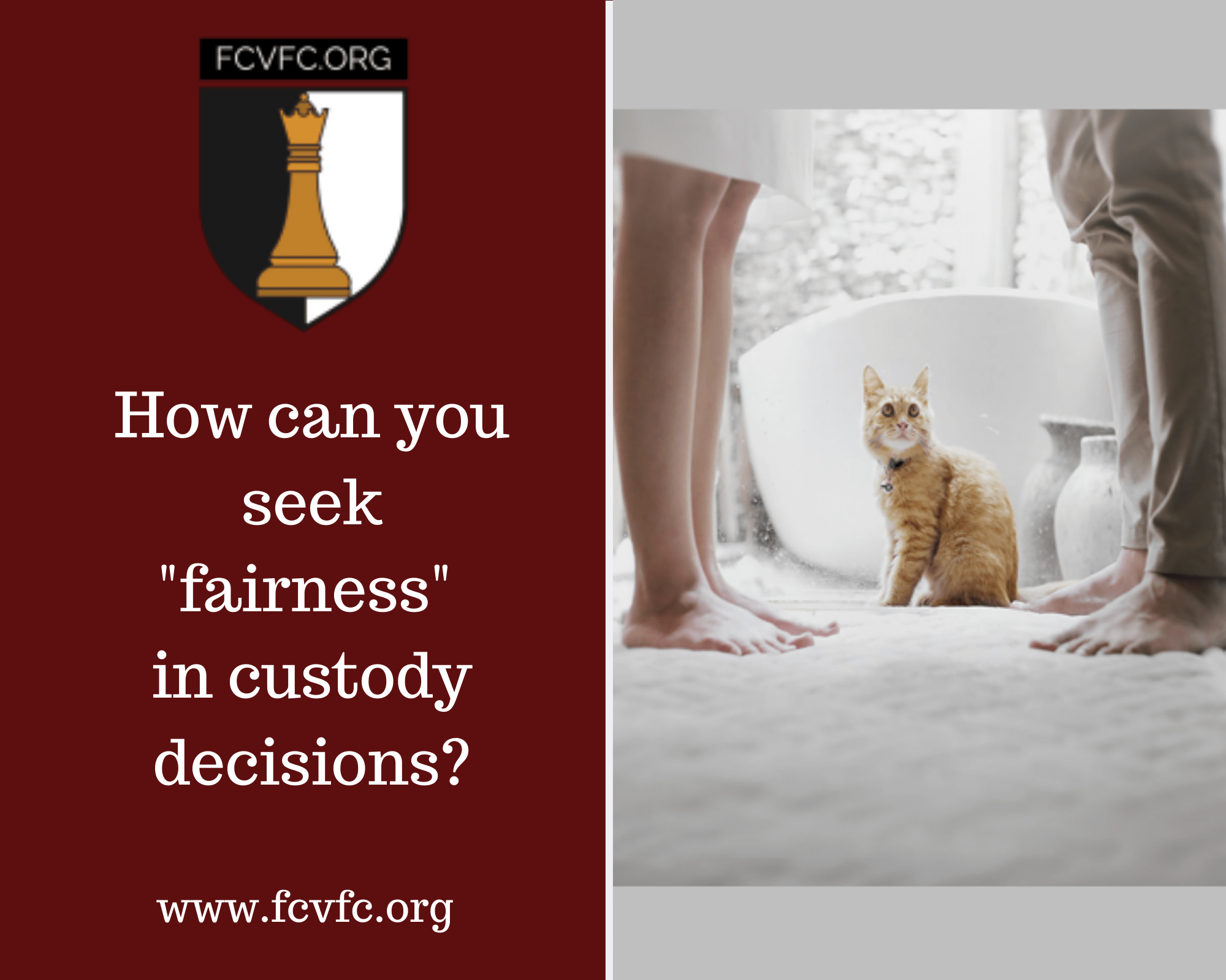 "How can you seek ""fairness"" in custody decisions?"