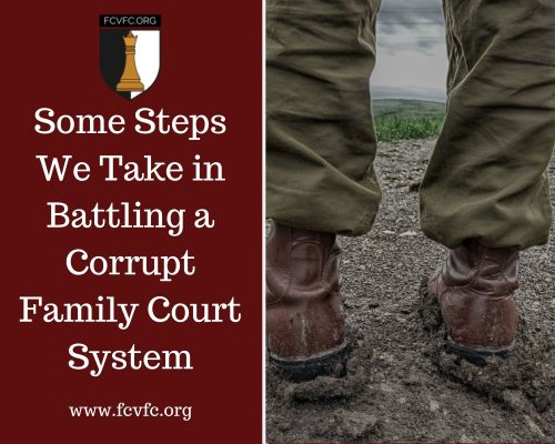 Some Steps We Take in Battling a Corrupt Family Court System