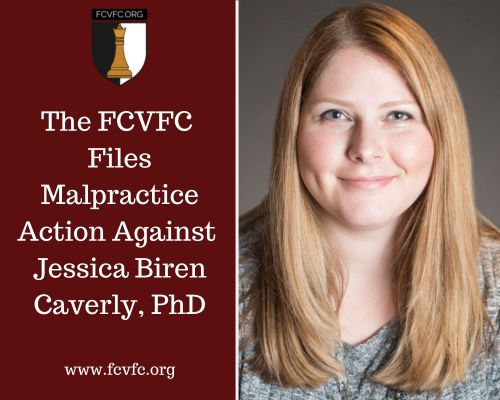 The Foundation for Child Victims of the Family Courts has filed a malpractice action against Jessica Biren Caverly
