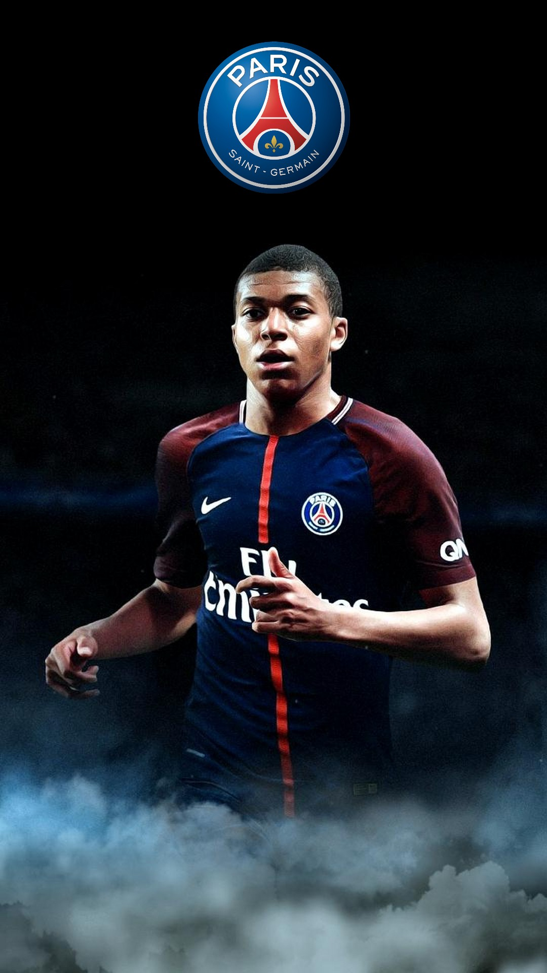 wallpaper kylian mbappe psg iphone