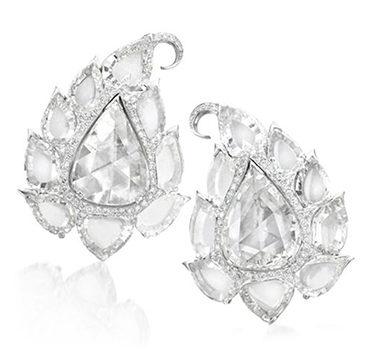 A Pair of Diamond 'Carolina' Earrings, by Bodino