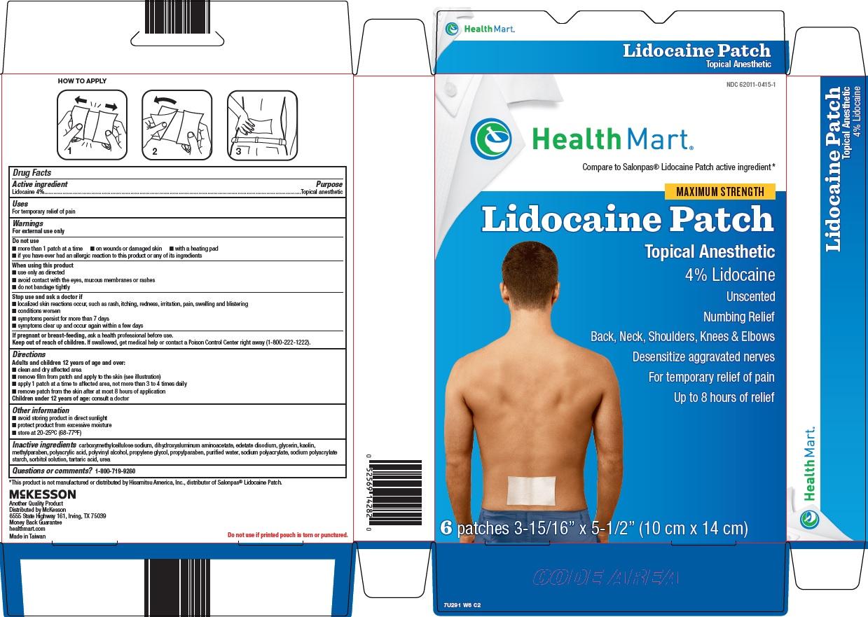 HEALTH MART LIDOCAINE- lidocaine patch