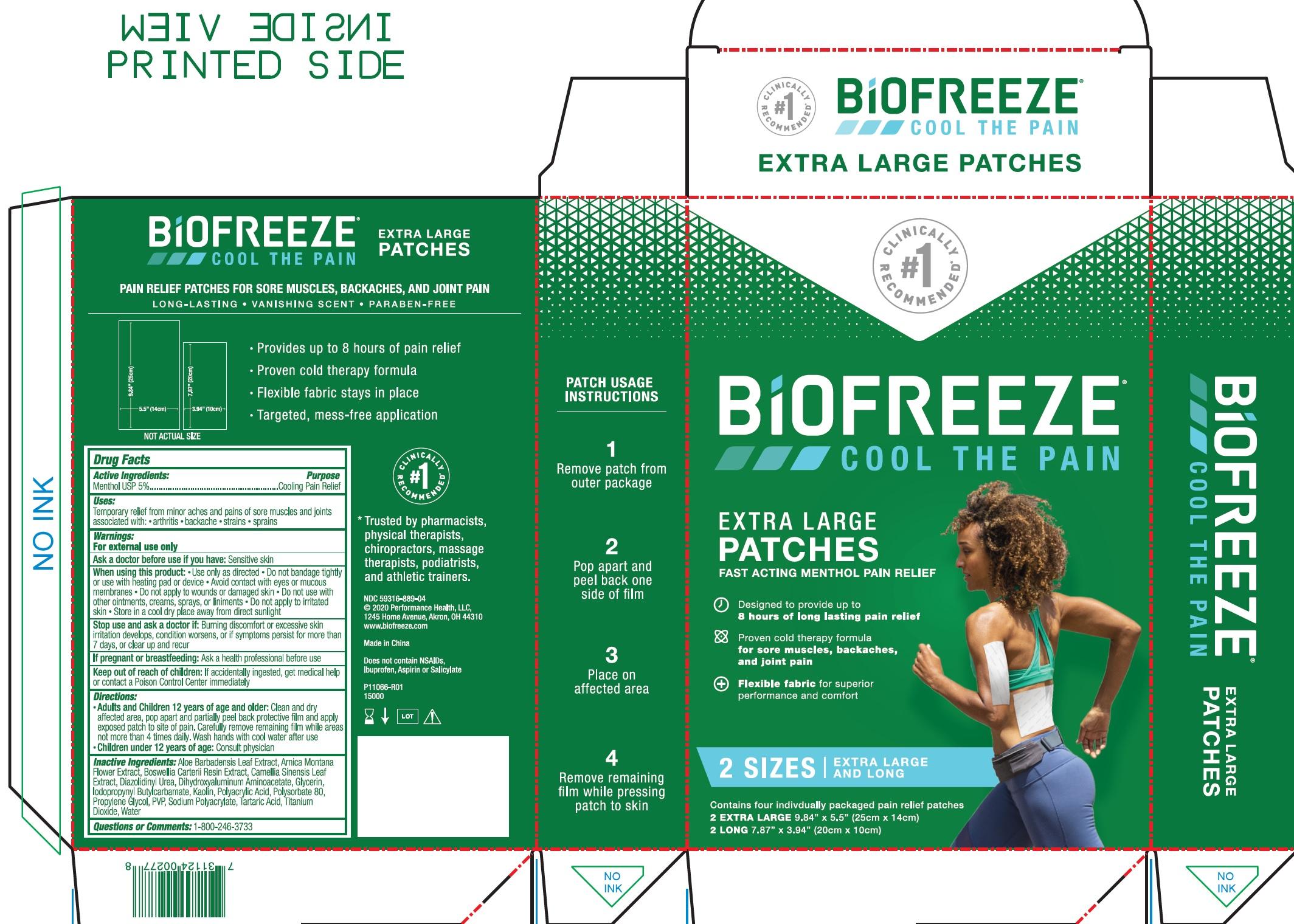 BIOFREEZE PATCH MULTI PACK- menthol kit