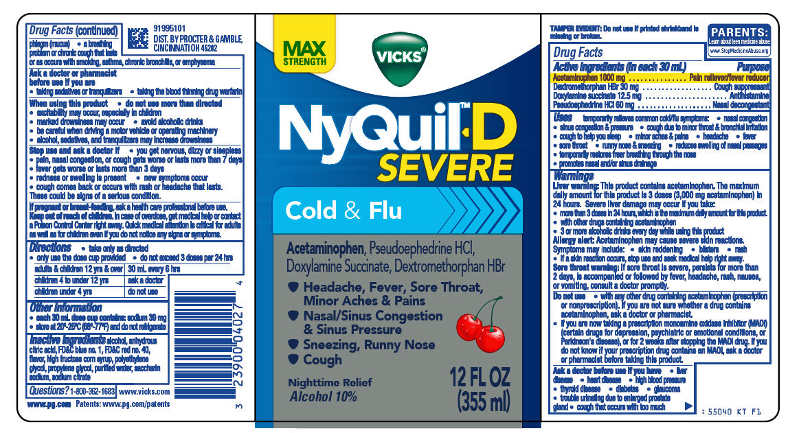 VICKS NYQUIL D SEVERE COLD AND FLU- acetaminophen ...