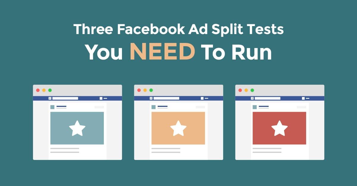 three facebook ad split