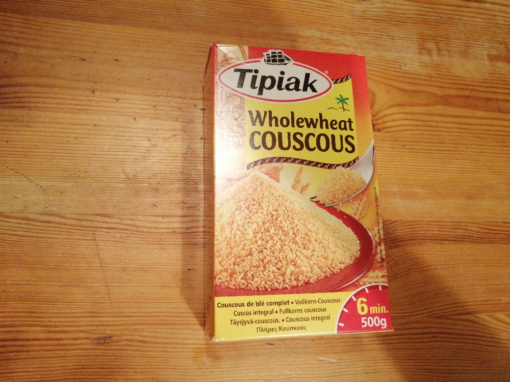 Tipiak. Wholewheat Couscous Calories - New products - Fddb