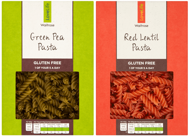 Waitrose Launches Free From Pasta In Food Waste Packaging