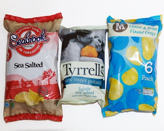Acrylamide levels of supermarket crisps revealed