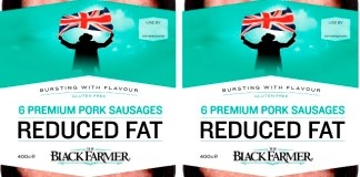 The Black Farmer launches reduced fat premium sausages