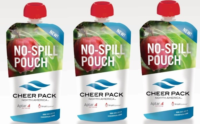 Aptar and Cheer Pack launch 'No-Spill' pouch solution