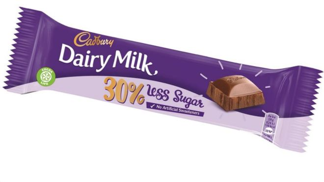 The significance of the reduced sugar Dairy Milk bar