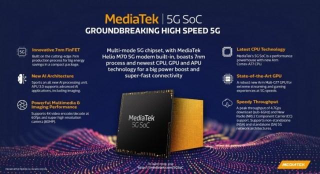 Mediatek va începe să expedieze probe SoC 5G către producători în trimestrul 3 2019