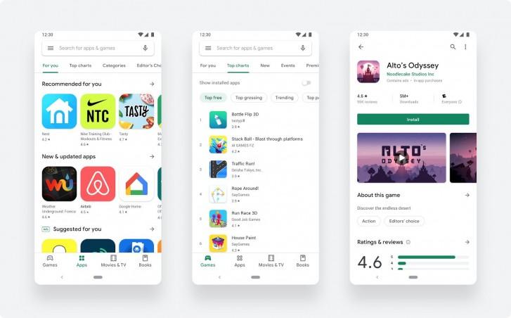 O redesenho da Google Play Store agora está oficialmente disponível para todos