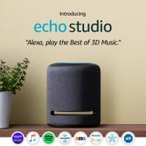 The Echo Studio features 5 speakers and advanced smart home functionality