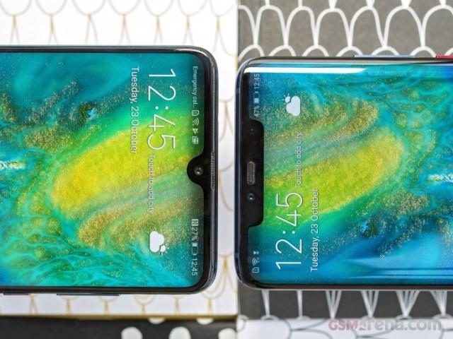 Huawei Mate 20 (stânga) și Huawei Mate 20 Pro (dreapta)