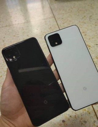 Google Pixel 4 in Just Black and Clearly White colors