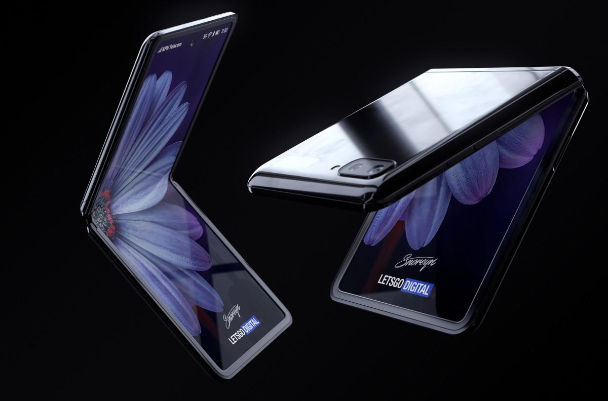 gsmarena 002 - فيديو.. تسريبات مصورة جديدة تكشف عن تصميم جوال Galaxy Z Flip بشكل أوضح