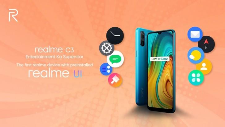 Realme C3 akan menjadi smartphone pertama yang menjalankan Realme UI di luar kotak