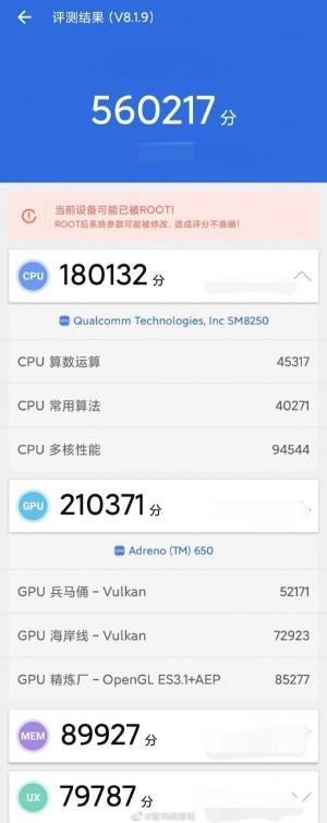 Xiaomi Mi 10 score on AnTuTu goes through the roof