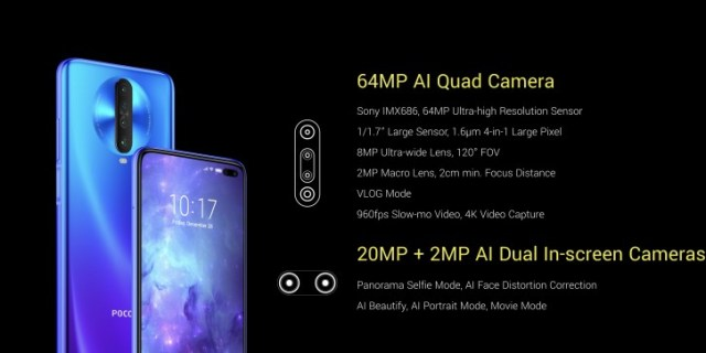 Poco X2 officially announced: 6.67'' 120Hz display, Snapdragon 730G SoC, and 64MP camera