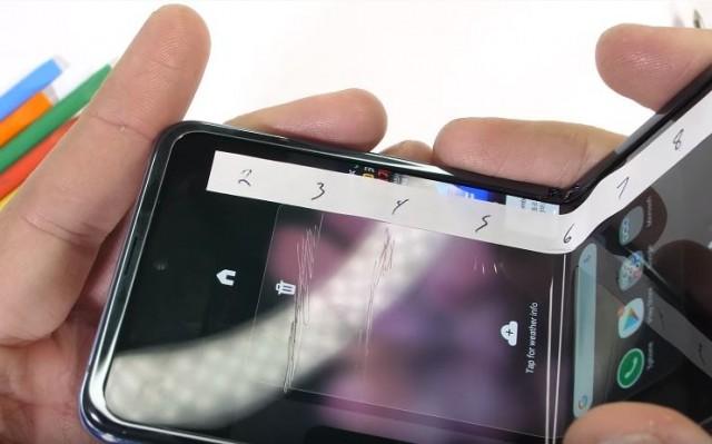 Galaxu Z Flip display durability test results