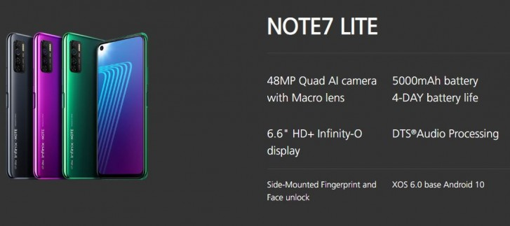 Infinix Note 7 dan Note 7 Lite menghadirkan masa pakai baterai selama berhari-hari