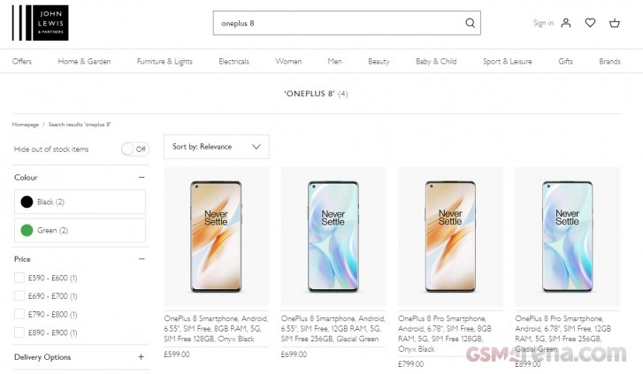 OnePlus 8 Pro UK pricing