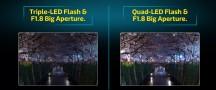 Triple vs. Quad LED flash