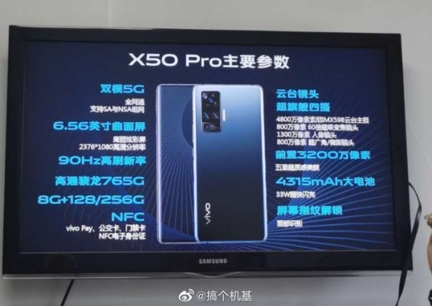 Vivo X50 Pro full specs are out, more photos leak
