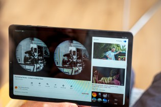 Watching videos is a treat, thanks to the stereo speakers