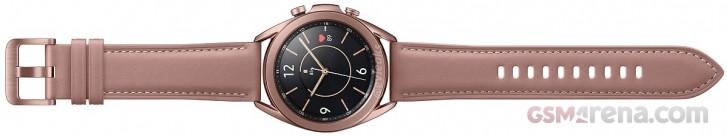Here's the 41mm Samsung Galaxy Watch3 in Bronze