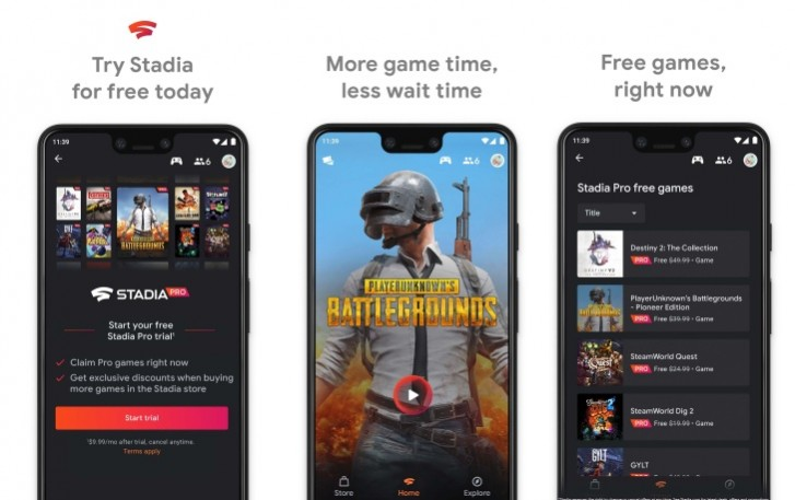 Stadia on more android Phones